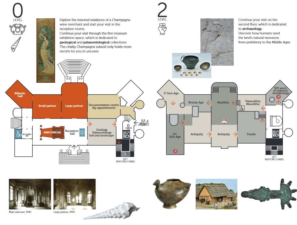 Map of the Museum of Champagne
