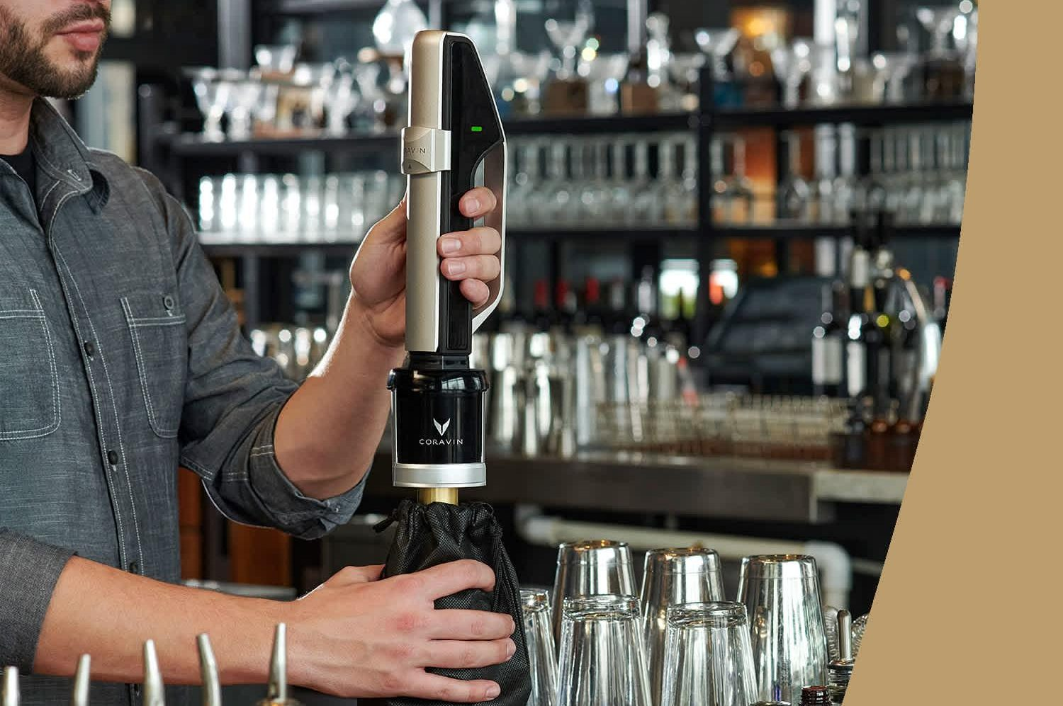 New system for sparkling wine preservation from Coravin