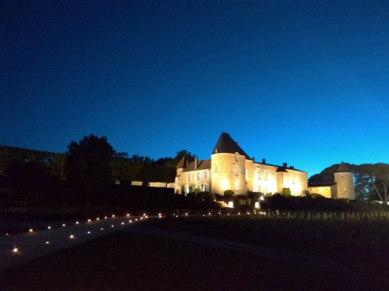 Chateau d'Yquem in lights